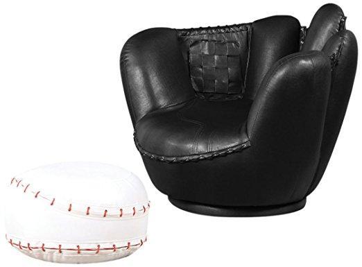 All Star Set Chair and Ottoman, Baseball