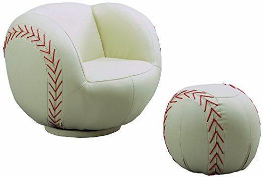 Baseball Chair with Ottoman