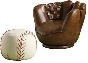 Crown Mark Baseball Glove Chair Ottoman