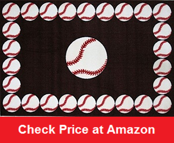 Baseball Time Accent Rug