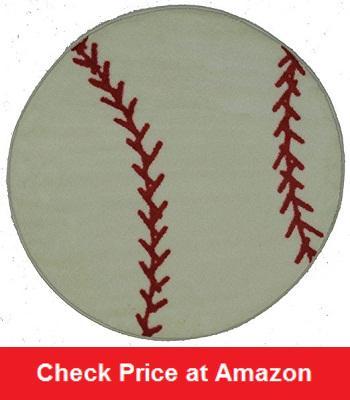 Baseball Round Rug