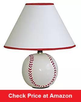 Ceramic Baseball Table Lamp