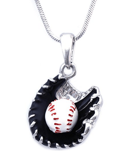 Baseball Glove Sports Charm Player Pendant Necklace
