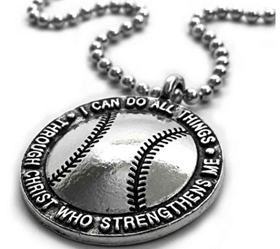 Everything you want to know about baseball necklaces baseball necklace i can do all things through christ aloadofball Gallery