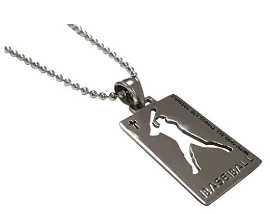 Christian Stainless Steel Sport Medal Necklace