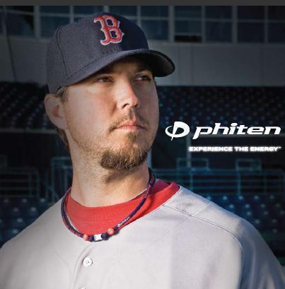 Josh Beckett Phiten Baseball Necklace